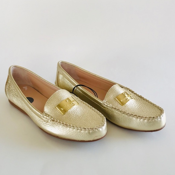Kate Spade Gold Loafers Size